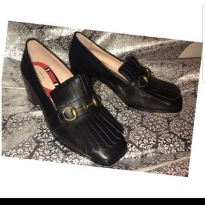 Gucci Black Leather Shoes